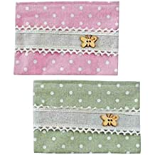 Lote de 24 Portatodos Yute Mariposas Verde Detalles Invitadas Bodas Surtidos Rosa y Verde - Porta