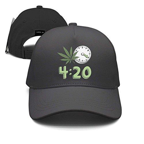 4 O'Clock 20 Weed Leaf Unisex Baseball Cap Snapback Hip Hop Caps Fitted Sport Sun Hats