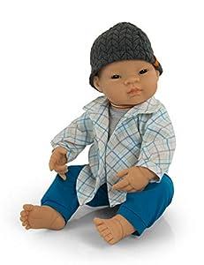 Miniland Conjunto Entretiempo Azul Vestido para muñecos de 40cm, Color, 38-40 cm 31559