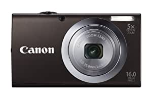 Canon PowerShot A2400 IS Digital Camera - Black (16.0 MP, 5x Optical Zoom) 2.7 inch LCD