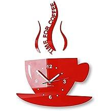 Amazonfr Horloge Cuisine Rouge Flexistyle