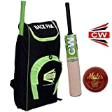 CW Exclusive T20 Match Prime Multiccolor Basic Individual Sports Cricket Kit PopularSet Combo Offer Inclusive Shoulder Cricket Accessories Back Pak Kashmir Willow Leather Ball Cricket Bat Match Red Leather Cricket Ball (ComboPack Ideal For Kids/ Children/