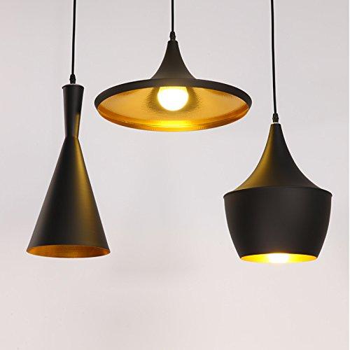 Retro Vintage Industrial Iluminación Colgante combinación clásica - 3x E27 Metal Colgante...