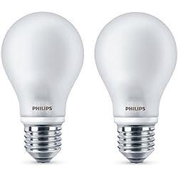 Lampe à LED Philips classique remplace 40W, E27, blanc chaud (2700K), 470 lumens, Paquet de deux