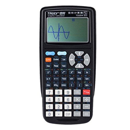 TG204 Portable Größe Schüler Graphics Calculator Scientific Grafikrechner Für Grafikunterricht Schwarz, schwarz