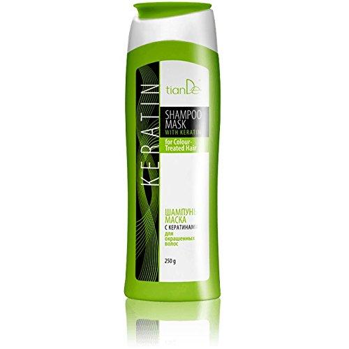 Shampoo-Maske mit Keratin Für Coloriertes Haar, TianDe 20139, 250 g, Perfekte Farbe Auch Nach 20 Wäschen
