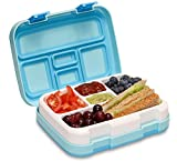 MunchBox Bento Lunch Box with 5 Compartments, Kids & Toddler BPA Free Plastic