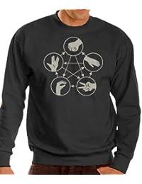 Stein Schere Papier Echse Spock Sweatshirt - Pullover S-XXXL div. Farben