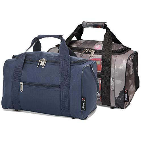 Ryanair 20L Maximal Größe des Handgepäck 40x25x20cm Bordgepäck Gepäck Tasche, Marine + Städte