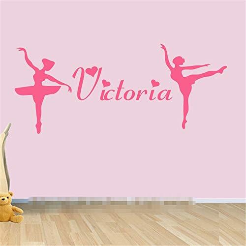 Wandtattoo Kinderzimmer Personifizieren Sie besonders anfertigen Ballerina-Wunsch-spezielles Geschenk des Namen-2 für die Geburtstagsfeier-Dekoration des Mädchens