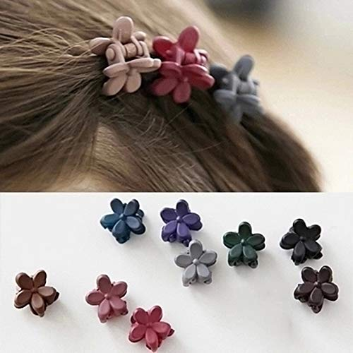 KANEED Hauptbänder Hoops 50 Stück Mädchen Cute Scrub Flower Mini Haarnadel in zufälliger Farbe...