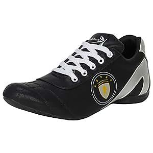 Kraasa Men's Black White Sports Shoes - 6