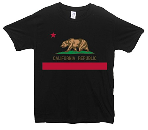 California Flag-Maglietta Bear Republic nero medium