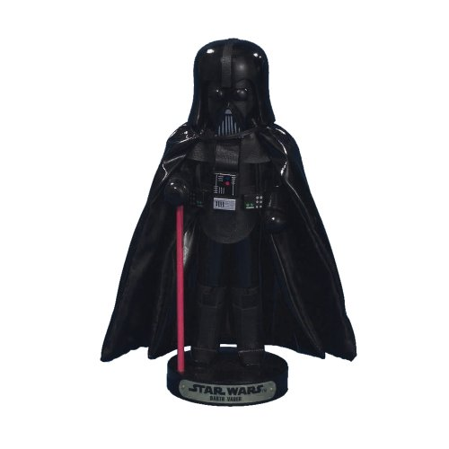 Joy Toy 90155 - Darth Vader Nussknacker in Holz in Geschenkpackung, 9 x 9 x 25 cm