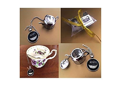 Alice im Wunderland inspiriert Tee-Ei, kleine Geschenk-Set, lose Tee-Ei, Mad Hatter Tea Party, Mini-Teekanne, Teesieb, Grinsekatze - HERBAL TEA sample