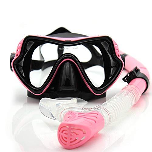 Máscara de Buceo para Snorkeling Profesional Snorkel Scuba antivaho Gafas para niños - Rosa