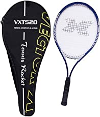 Vector X VXT-520 Strung Tennis Racquet with Cover, 26-inch (Blue/White)