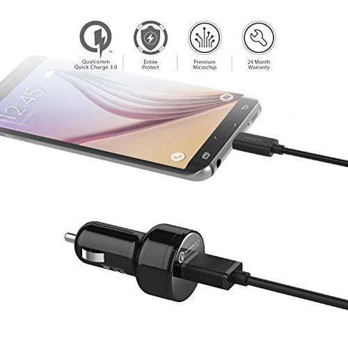 41P 9qlT7yL - [Amazon.de] AUKEY Quick Charge 3.0 Kfz Ladegerät 24W für iPhone/iPad nur 4,99€ statt 11,99€ *PRIME*