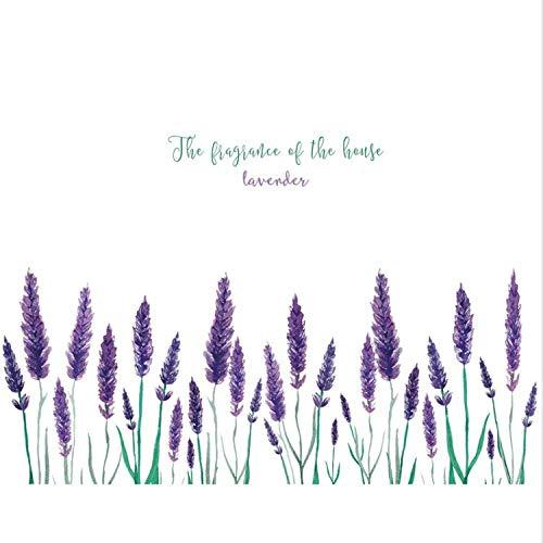 ylckady Lila Lavendel Wandaufkleber Wohnzimmer Hintergrund Dekoration Kunst Aufkleber Romantische Blume Aufkleber Kick Line Wandbild 50 * 110 cm - Kick Falten