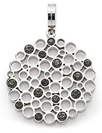 Leonardo - Anhänger Verena Darlin's - Edelstahl - graue facettierte Glassteine 016413