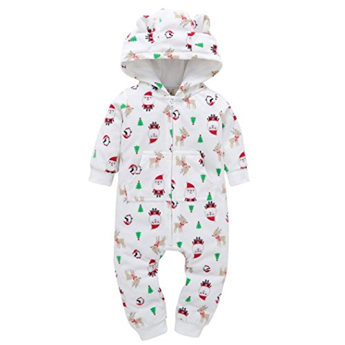 Strampler Kolylong®1 PC (0-24 Monate) Baby Jungen Mädchen Dicker Spielanzug mit kapuze Herbst Winter Warme Outfits Rompers Mantel Christmas Kleiderset Babykleidung (105CM(18-24 Monate), (Bodies R Kostüm Warm)