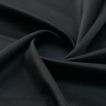 8f28ee2a70e Black Polyester Bi-Stretch Fabric (Per Metre): Amazon.co.uk: Kitchen ...