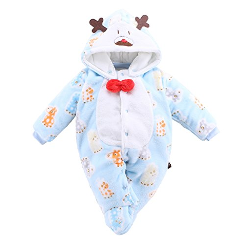 Bambino simpatico cartone animato Flanella Cappuccio pagliaccetto snowsuit neonato tute bambini piccoli Bambino Autunno/Inverno outwear vestito 3-6 mesi Vine