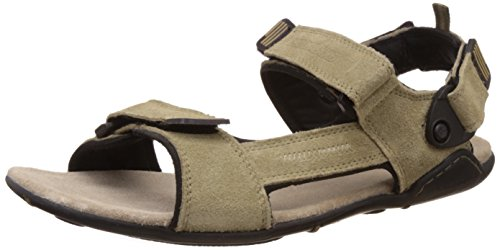 Woodland Men's Khaki Leather Sandals and Floaters - 6 UK/India (40 EU)  available at amazon for Rs.1797