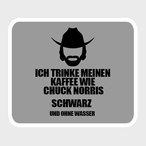 (StyloTex Autoaufkleber Ich trinke meinen Kaffee wie Chuck Norris - schwarz ohne Wasser - UV geschützt)