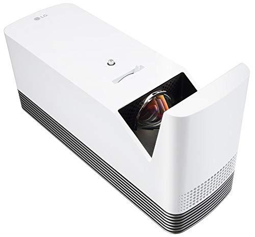 LG HF85LSR - Proyector láser Smart TV de Tiro Ultracorto (80 Pulgadas a 33.6 cm, Full HD, WebOS 4.0, 1500 lúmenes, Contraste 150000:1, lámpara Láser de hasta 20000 Horas de Vida útil) Blanco