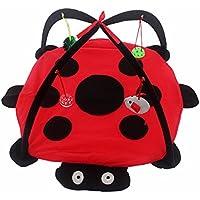 TiooDre Perro Gato móvil actividad de juego estera del animal doméstico cama acolchada con los juguetes colgantes Campanas Bolas y ratones (A1)