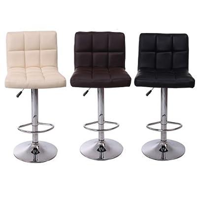Cuban Breakfast Bar Stool Pu Leather Barstool Kitchen Stools Chrome Home Desk Chair