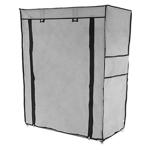 Primematik - armadio guardaroba e scarpe in acciaio tessuto 60 x 30 x 76 cm grigio con porta avvolgibili
