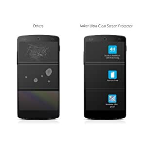 Anker® Screen Protector for Google Nexus 5 [3 Pack] Xtreme Scratch Defender Crystal-Clear High-Response Premium with Lifetime Warranty