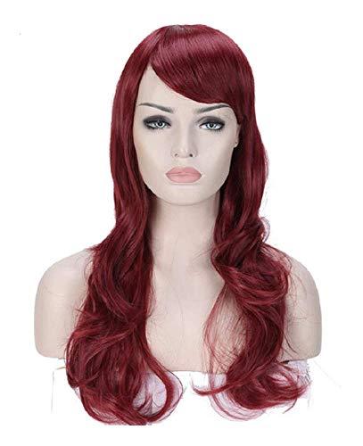 Inception Pro Infinite Perücke - Lang 62 cm Haar Synthetik Bewegt Fransen Büschel Farbe Rotes Mahagoni Frau Mädchen Verkleidung Karneval Halloween Cosplay Zubehör