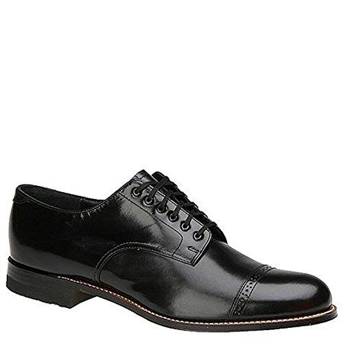 Stacy Adams Men's Madison (Cap Toe) Black Oxford 10.5 E - Wide