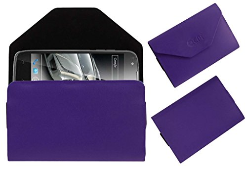 Acm Premium Pouch Case For Xolo Q700s Flip Flap Cover Holder Purple  available at amazon for Rs.179