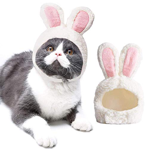 ZLALF Halloween Kostüm Bunny Hut Mit Ohren Für Katzen Und Kleine Hunde Party Kostüm Accessoire Headwear