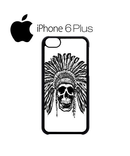 Skull Indian Chief Native Festival Mobile Phone Case Back Cover Hülle Weiß Schwarz for iPhone 6 Plus White Schwarz