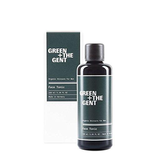 GREEN + THE GENT | Face Tonic | After Shave und Gesichtswasser für Männer mit Aloe Vera | Erfrischung und Pflege der Gesichtshaut | Bio-zertifiziert, made in Germany | 100 ml - Männer Aloe