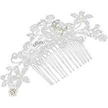 Contever® Cristallo Perle Accessori per Capelli Clip Pin Decor fiore Stile da Sposa