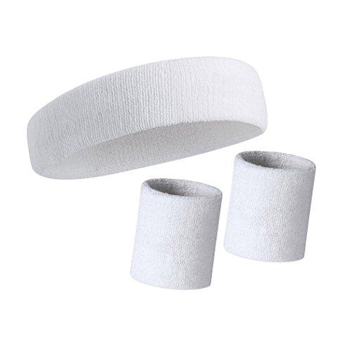 Farbe One Size Gr/ö/ße White Wristband Schwei/ßband aus weichem Frottee