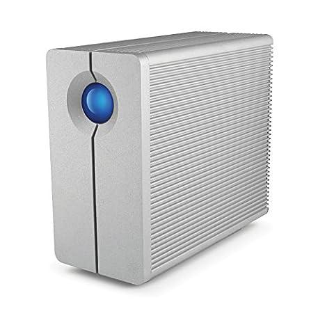 LaCie STGL12000400 8,89 cm (3,5 Zoll) 12TB Externe Festplatte mit USB 3.0 aluminium