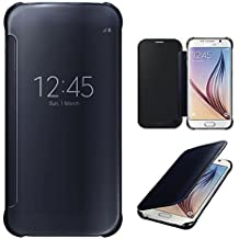 Connect Zone De luxe Miroir Intelligent Effacez La Vue Rabattable étui coque rigide Pour Samsung Galaxy S7/S7 Edge - Noir, Samsung S7