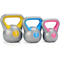 York Fitness 2, 3 and 4kg Vinyl Kettlebell Weight Set