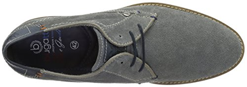Bugatti 312111121400, Derby Homme Gris (Light Grey 1200)