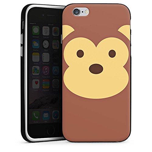Apple iPhone X Silikon Hülle Case Schutzhülle Affe Monkey Comic Style Silikon Case schwarz / weiß