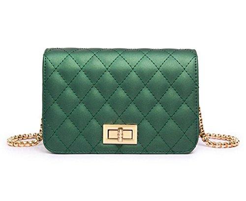 Spiraea Lingge Borsa Della Borsa Della Catena Moda Casual Bag Mini Messenger Tracolla Minimalista Green
