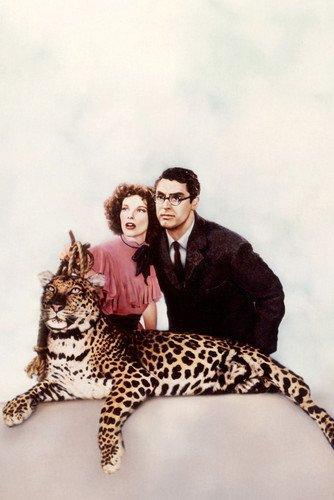 Moviestore Katharine Hepburn als Susan Vance unt Cary Grant als Dr. David Huxley in Bringing Up Baby 91x60cm Farb-Posterdruck -
