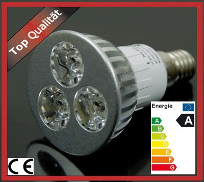 lux.pro® HIGH POWER SMD SPOT 3x1W E14 LAMPE LED WARMWEISS von lux.pro auf Lampenhans.de